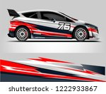 rally car wrap. abstract strip... | Shutterstock .eps vector #1222933867