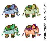 decorative watercolor... | Shutterstock . vector #1222934224