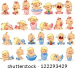 vector illustration of baby... | Shutterstock .eps vector #122293429