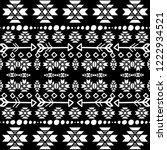 tribal apache vector seamless... | Shutterstock .eps vector #1222934521