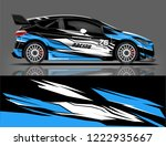 rally livery design. racing car ... | Shutterstock .eps vector #1222935667