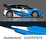 rally car wrap livery design.... | Shutterstock .eps vector #1222937674