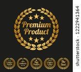premium product label on black... | Shutterstock .eps vector #1222941364