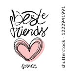 Best Friends Forever Lettering...