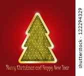 christmas greeting card with... | Shutterstock . vector #122294329