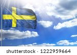 flag of sweden on a flagpole...   Shutterstock . vector #1222959664