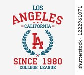 los angeles college typography... | Shutterstock .eps vector #1222961071