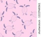 caretta caretta seamless... | Shutterstock .eps vector #1222968361