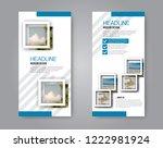 narrow flyer and leaflet design.... | Shutterstock .eps vector #1222981924