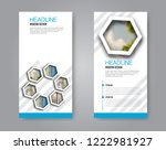 narrow flyer and leaflet design.... | Shutterstock .eps vector #1222981927