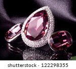 beautiful jewelry on background | Shutterstock . vector #122298355