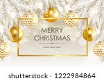 merry christmas and happy new... | Shutterstock .eps vector #1222984864