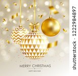 merry christmas and happy new... | Shutterstock .eps vector #1222984897