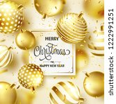 christmas background with tree... | Shutterstock .eps vector #1222991251