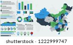 detailed china map with... | Shutterstock .eps vector #1222999747