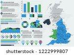 detailed united kingdom map... | Shutterstock .eps vector #1222999807