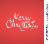 merry christmas vector greeting ...   Shutterstock .eps vector #1223002531