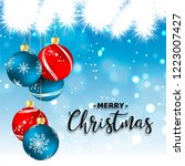 new year. 2019. christmas.... | Shutterstock .eps vector #1223007427