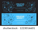 creative agency office web... | Shutterstock .eps vector #1223016601