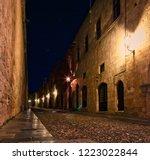 medieval city of rhodes island... | Shutterstock . vector #1223022844
