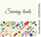 icons and items for sewing and... | Shutterstock .eps vector #1223025361