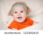 portrait of beautiful joyful... | Shutterstock . vector #122302615