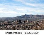 el paso skyline  with mountain... | Shutterstock . vector #12230269