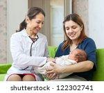mature pediatrician doctor... | Shutterstock . vector #122302741