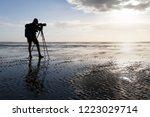 birdwatcher counting birds in...   Shutterstock . vector #1223029714