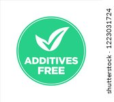 additives free. green and white ... | Shutterstock .eps vector #1223031724