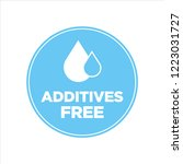 additives free. blue and white...   Shutterstock .eps vector #1223031727