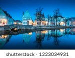 beautiful twilight view of the... | Shutterstock . vector #1223034931