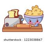 kitchen and food kawaii cartoons   Shutterstock .eps vector #1223038867