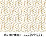 the geometric pattern with... | Shutterstock .eps vector #1223044381