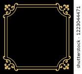 decorative frame elegant vector ... | Shutterstock .eps vector #1223044471