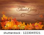 happy thanksgiving background... | Shutterstock .eps vector #1223045521