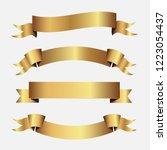 set of golden ribbons vector.   Shutterstock .eps vector #1223054437