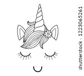 lovely vector drawing of the... | Shutterstock .eps vector #1223065261