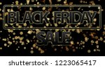black friday sale 3d... | Shutterstock . vector #1223065417