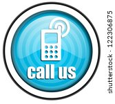 call us blue glossy icon... | Shutterstock . vector #122306875