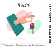 car sharing mobile app icon...