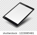 tablet pc computer with blank... | Shutterstock .eps vector #1223085481