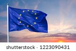 flag of the european union... | Shutterstock . vector #1223090431