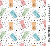 tribal seamless pattern with... | Shutterstock .eps vector #1223111257