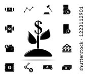 plant dollar icon. finance... | Shutterstock .eps vector #1223112901