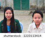 sittwe myanmar on february 11 ... | Shutterstock . vector #1223113414