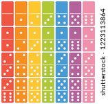 colourful domino set element... | Shutterstock .eps vector #1223113864