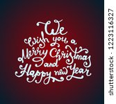 christmas quote made in... | Shutterstock .eps vector #1223116327