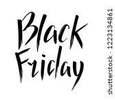 black friday vector lettering... | Shutterstock .eps vector #1223134861
