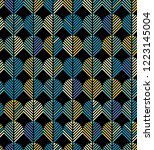 seamless abstract geometric... | Shutterstock .eps vector #1223145004
